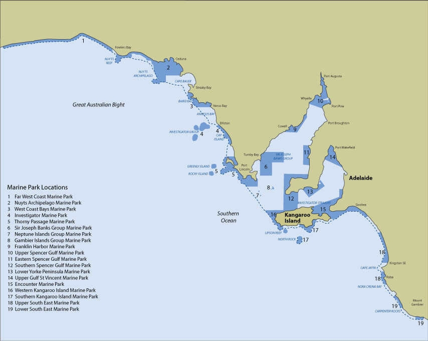 Marine Parks of S.A.